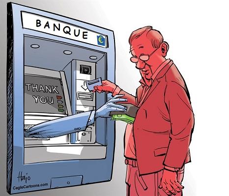Les banques accusées de prélever indûment 420 millions d