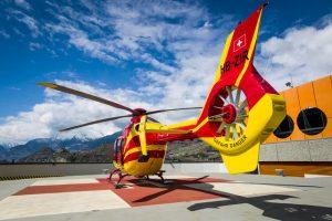 Un hélicoptère d'Air-Glaciers.