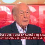 Valéry Giscard d'Estaing: » Il faut une mise en congé de la Grèce du système Euro et ce n'est pas du tout un drame ! «