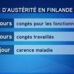 Cure d'austérité en Finlande: Huit jours de congés en moins pour les fonctionnaires
