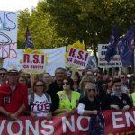 RSI: Légers heurts à la manifestation des indépendants