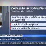 Marc Fiorentino: baisse des profits de la banque d'affaires américaine Goldman Sachs, une première depuis 4 ans !