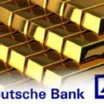 Deutsche Bank recommande l'achat d'or