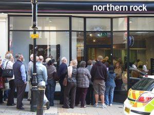 Ruée bancaire à la Northern Rock le 14 septembre 2007...