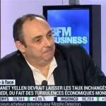 Olivier Delamarche sur BFM Business le Lundi 14 Mars 2016