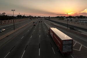 Truck-highway-sunset-flickr
