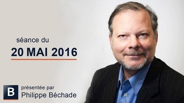"""Philippe Béchade: Séance du 20 mai 2016: """"Ce marché est une véritable machine à faire perdre... Une boîte à baffes !"""""""