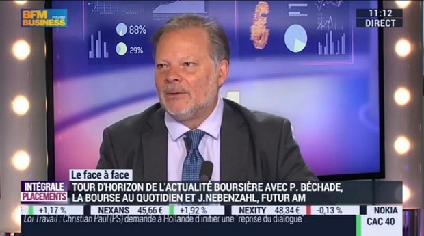 Philippe Béchade sur BFM Business le 25/05/16: La hausse est orchestrée par le 49-3 de la BCE !