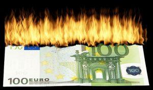 Money-euro-Burning