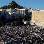 Grèce: quelque 7.000 personnes manifestent pour la démission de Tsipras à Athènes