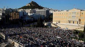 grèce-athènes-manifestants