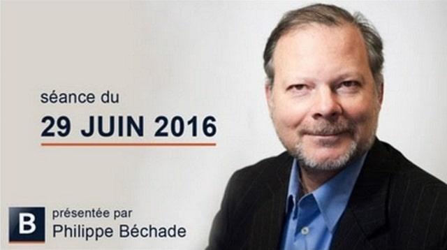Philippe Béchade: Séance du Mercredi 29/06/16: Nous voici revenus sur de l