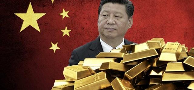 La Chine explose tous les records avec 32 tonnes d'or achetées ces 3 derniers mois.