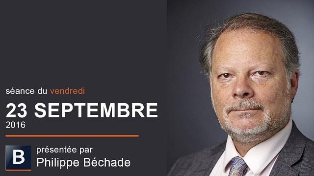 """Philippe Béchade: Séance du Vendredi 23 Septembre 2016: """"Plus les notes baissent, mieux le proviseur est payé"""""""