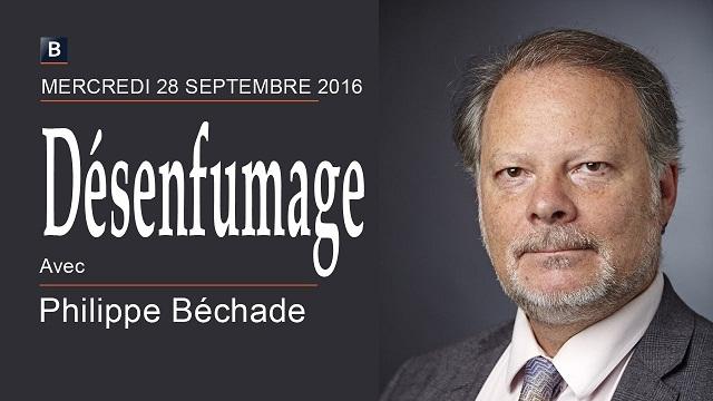 """Philippe Béchade: Séance du Mercredi 28 Septembre 2016: """"Désenfumage"""""""