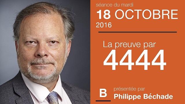 """Philippe Béchade: Séance du Mardi 18 Octobre 2016: """"La preuve par 4444"""""""