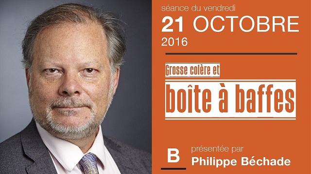 """Philippe Béchade: Séance du Vendredi 21 Octobre 2016: """"Grosse colère et boîte à baffes"""""""