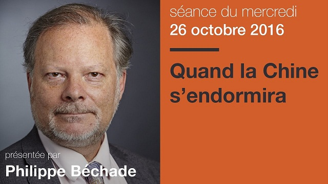 """Philippe Béchade: Séance du Mercredi 26 Octobre 2016: """"Quand la Chine s"""