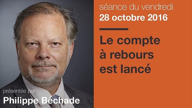 """Philippe Béchade: Séance du Vendredi 28 Octobre 2016: Elections Américaines: """"Le compte à rebours est lancé"""""""