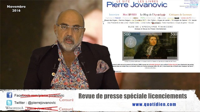 Pierre Jovanovic: Revue de presse spéciale licenciements - Novembre 2016