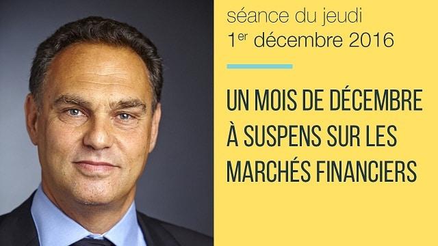 """Eric Lewin: """"Un mois de décembre à suspens sur les marchés financiers""""... Italie, taux, BCE, FED..."""