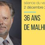 Philippe Béchade: Séance du Vendredi 02 Décembre 2016: «36 ans de malheur ?»