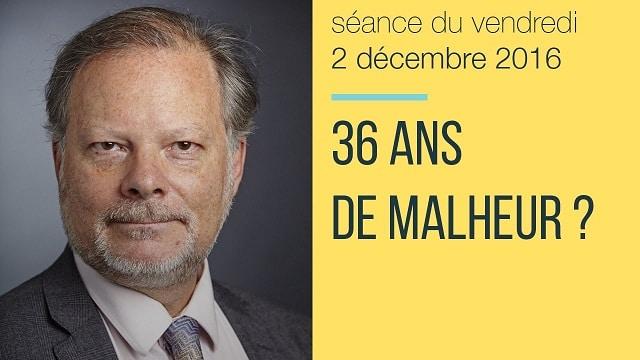 """Philippe Béchade: Séance du Vendredi 02 Décembre 2016: """"36 ans de malheur ?"""""""