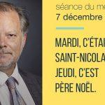Philippe Béchade: Séance du Mercredi 07 Décembre 2016: «Mardi, c'était la Saint-Nicolas. Jeudi, c'est Père Noël.»