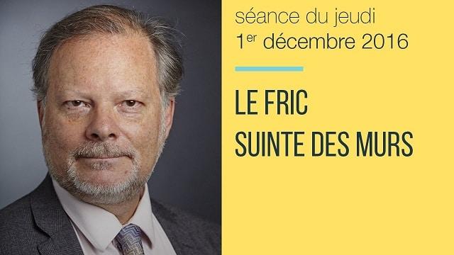 """Philippe Béchade: Séance du 1er Décembre 2016: """"Le fric suinte des murs"""""""