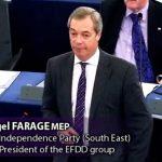 Nigel Farage: U.E: Vous pouvez vous attendre à d'autres chocs, encore plus importants, en 2017