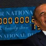 """OBAMA quitte la Maison Blanche en """"Super King""""… Le Roi de la dette c'est lui… Historiquement y'a pas plus haut"""