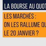 Philippe Béchade: Séance du Vendredi 13 Janvier 2017:  «Les marchés, on les rallume quand ?»