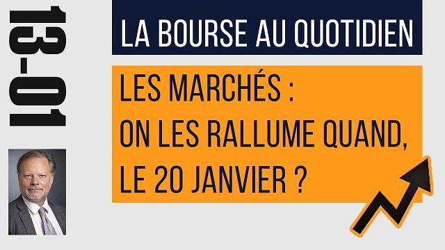 """Philippe Béchade: Séance du Vendredi 13 Janvier 2017:  """"Les marchés, on les rallume quand ?"""""""
