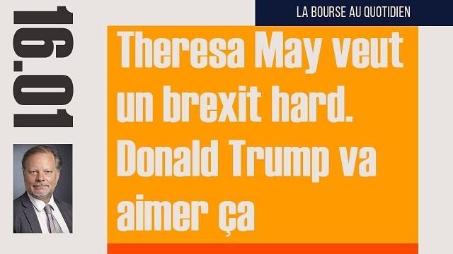 "Philippe Béchade: Séance du Lundi 16 Janvier 2017: ""Theresa May veut un brexit hard / Donald Trump va aimer ça"""