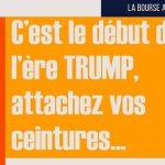 Philippe Béchade: Séance du 20/01/17: «C'est le début de l'ère TRUMP, attachez vos ceintures…»