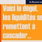 Philippe Béchade: Séance du Mercredi 25 Janvier 2017: «Voici le dégel, les liquidités se remettent à cascader…»