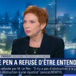 """Laurence Parisot: """"Il y aurait au lendemain d'une victoire de Marine Le Pen, ce qu'on appelle un Bank Run !"""""""