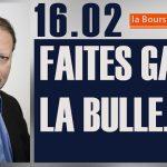 Philippe Béchade: Séance du Jeudi 16 Février 2017: «Faites GAFA la bulle !»