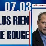 """Philippe Béchade: Séance du Mardi 07 Mars 2017: """"Plus rien ne bouge !"""""""