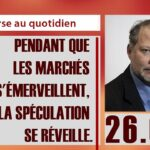 Philippe Béchade: Séance du 26/04/17: «pendant que les marchés s'émerveillent, la spéculation se réveille.»