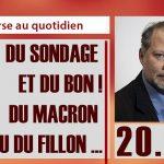 """Philippe Béchade: Séance du Jeudi 20 Avril 2017: """"Du sondage et du bon ! du Macron ou du Fillon …"""""""