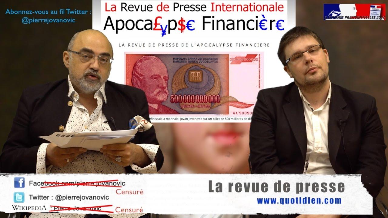 Pierre Jovanovic reçoit Pierre-Yves Rougeyron: Revue de presse spéciale présidentielles 2017