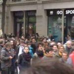 Manifestation sous tension à Paris contre «les projets de régressions sociales» de Macron