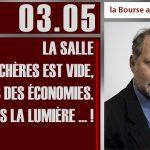 Philippe Béchade: Séance du 03/05/17: «La salle d'enchères est vide, faisons des économies…»