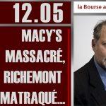 Philippe Béchade: Séance du Vendredi 12 Mai 2017: «Macy's massacré, Richemont matraqué…»