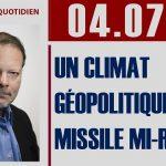 """Philippe Béchade: Séance du Mardi 04 Juillet 2017: """"Un climat géopolitique missile mi-raisin"""""""