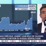 Les métaux précieux jouent leur rôle de valeurs refuges avec le retour du risque géopolitique – Avec Benjamin Louvet