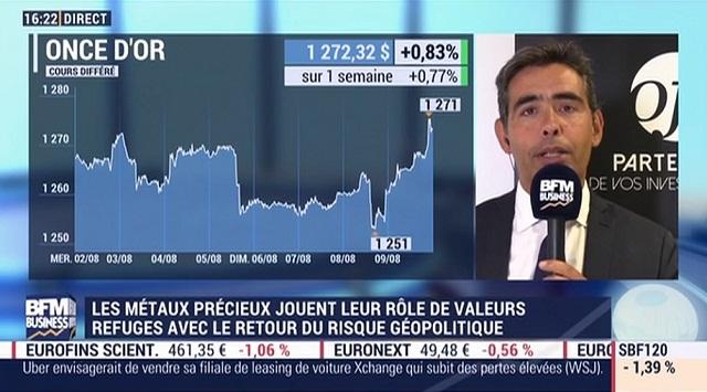 Les métaux précieux jouent leur rôle de valeurs refuges avec le retour du risque géopolitique - Avec Benjamin Louvet