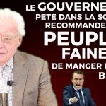 """Charles Gave: """"Le gouvernement pète dans la soie et recommande au peuple fainéant de manger de la Brioche"""""""