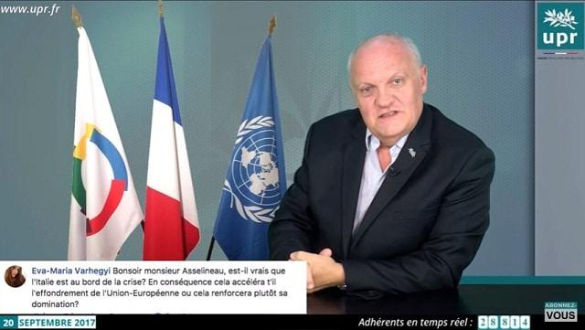 François Asselineau: Italie: on est au devant d